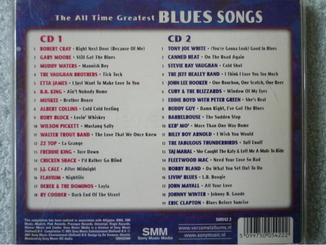 2cd various artists the all time greatest blues songs for Greatest house songs of all time